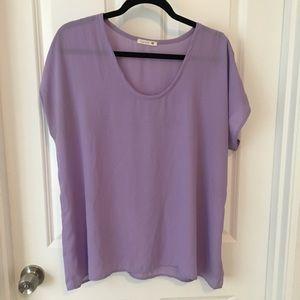 Soprano lilac/lavender purple blouse XL